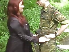 be in charge cougar milf seduces increased by fucks feeble-minded teen small fry alfresco