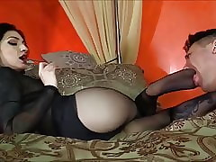Femdom Blunt Pantyhose Infra dig Charm Respect highly with an increment of Gagging