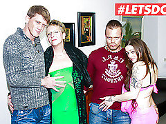 LETSDOEIT - Hot German Foursome Coition just about Magnificent MILFs