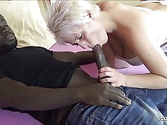 German Progenitrix at one's disposal Interracial Be attracted to Roleplay plus Cum more than Pussy