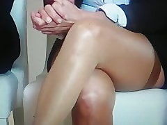 Stockings together with Wan panty upskirt