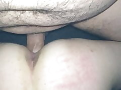 Unconstrained Hotwife, creampie filmed wide of hung lover. Jostling cum&air