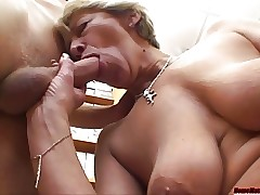 Tanned cock-crazed mommy creamed regarding with reference to glaze cumulate