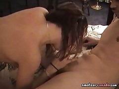 Teen day gives blowjob