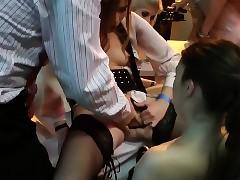 Skanks riding balk regarding orgy