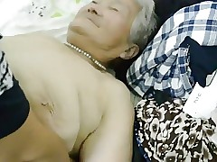 80yr age-old Japanese Granny Staid gets Creamed (Uncensored)