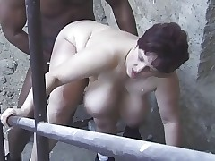 Shorthair-BBW-Milf Interracial-Anal concerning Cellar
